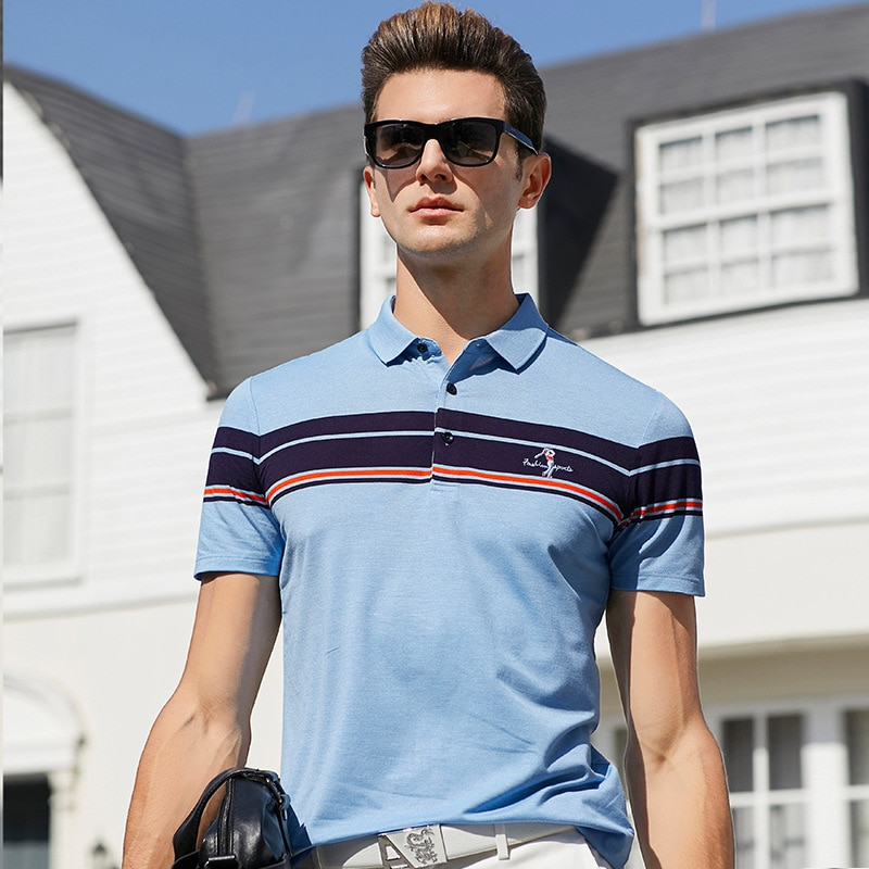 ¡NOVEDAD DE VERANO 2020! Camiseta Polo de manga corta para hombre de talla grande, ropa para hombre 100% algodón a rayas de diseñador, Tops de moda de alta calidad