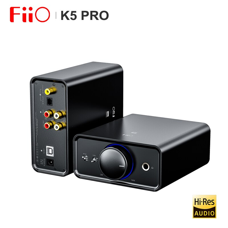 FiiO K5 Pro HiFi Audio AK4493 Deskstop Amplifier AMP DAC with RCA/6.35/3.5mm output USB-B/OPT/COAX/RCA Input 768K/32Bit DSD512