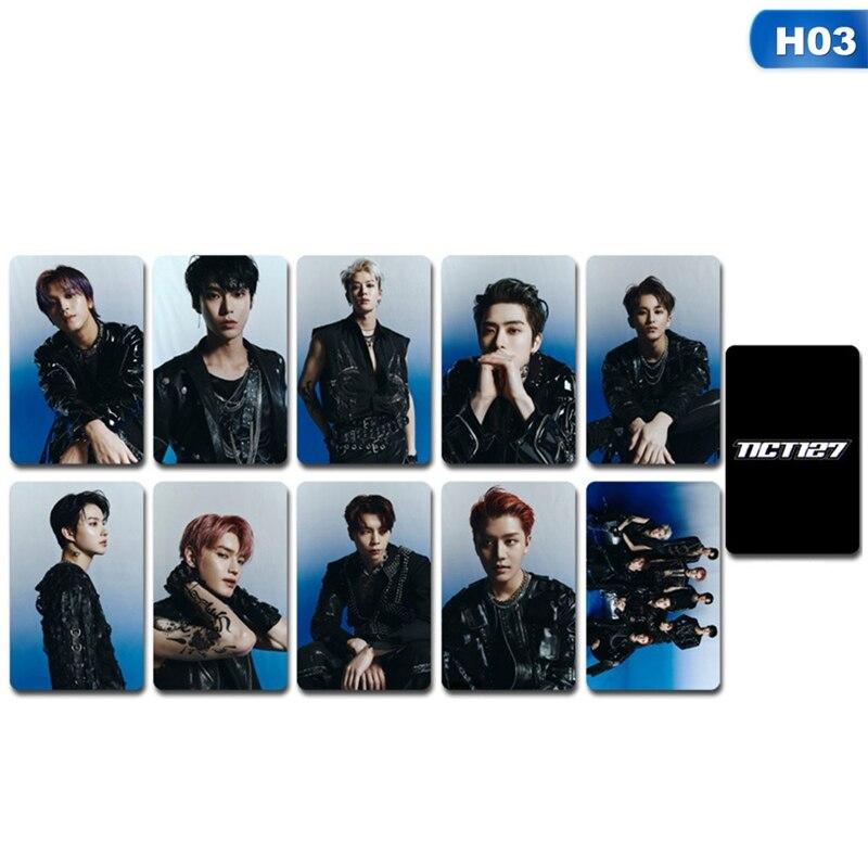10 unids/set NCT 127 Mini álbum cristal tarjeta pegatinas hecho por Photocard de tarjetas de papel pegatinas de alta calidad de doble cara