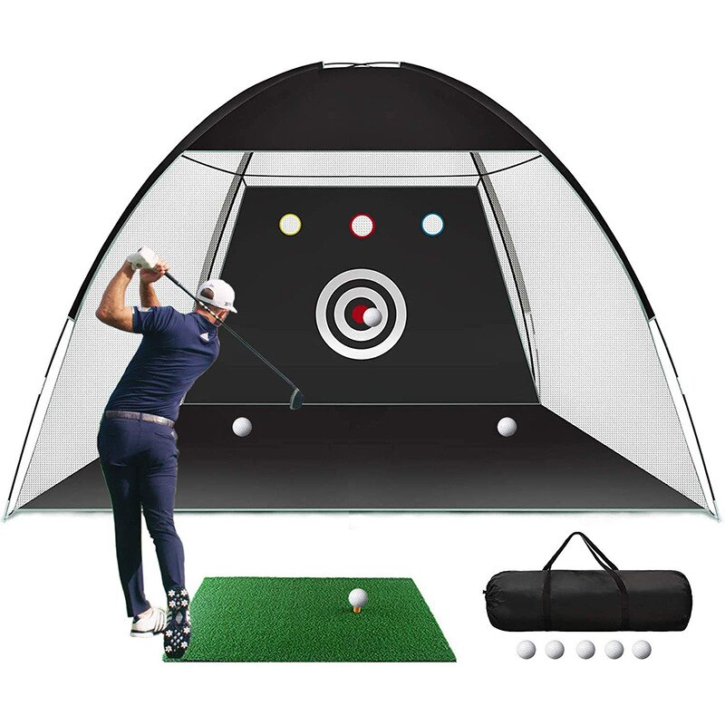 Portable Indoor Golf Practice Net Golf Cutting Practice Net Golf Batting Cage Outdoor Practice Net