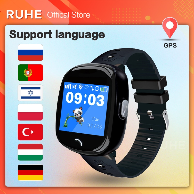 New 2021 Smart Watch Kids GPS HW08 Pedometer Positioning IP67 Waterproof Watch For Children Safe SmartWrist band Android IOS