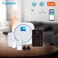 Tugard     systeme dalarme de securite domestique anti-cambriolage  wi-fi  433MHz  GSM  carte RFID  clavier tactile TFT LCD  11 langues  sans fil