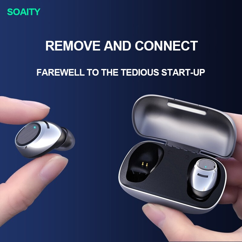 SOAIY F2 Bluetooth 5.0 Headset True Wireless Binaural Sports In-Ear Mini Invisible Earbuds Universal Touch Control Earphone enlarge