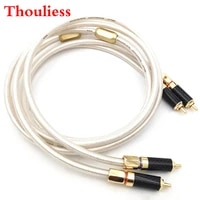 thouliess hifi liton silver plated dual filter audiovideo signal line rca cable with gold plated plug for amplifier cd player
