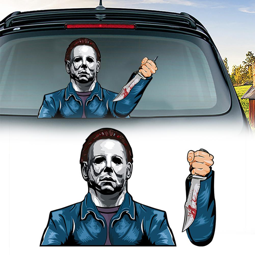 Sticker Halloween Car Rear Window Wiper Decal Scary Removable Sticker Auto Windshield Decor Accessor