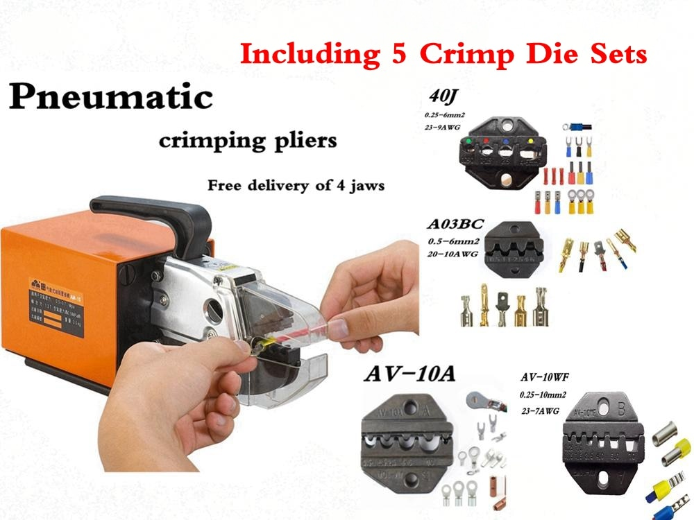 FASEN FEK-AM-10 High Quality Pneumatic Type Crimping Machine Air Crimper for Different Terminals Cable tools Wire Crimp Tool