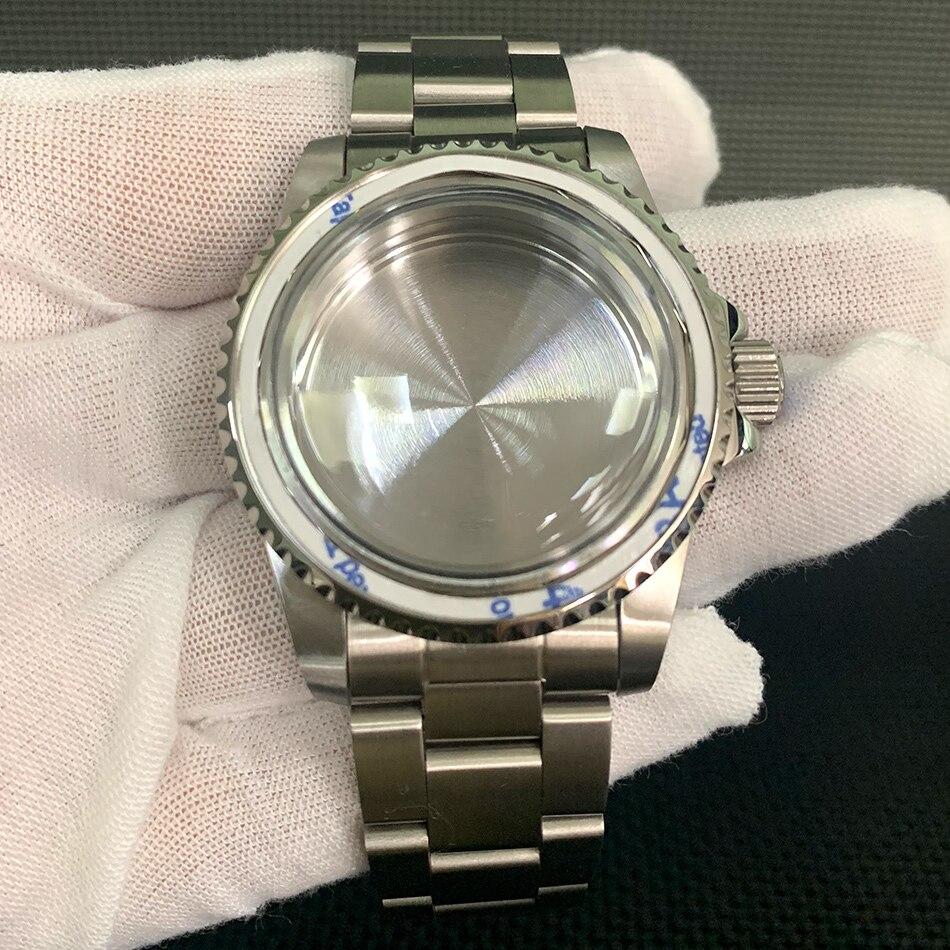 Acessórios de Relógio Personalizado Retro Relógio Montagem Movimento Aço Inoxidável Case Cinta n° 8 Anel Boca Nh35