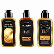 Gris couleur de cheveux inversée shampooing cheveux noirs naturel rapide teinture pour cheveux pour couverture gris blanc hydratant nourrissant soin des cheveux