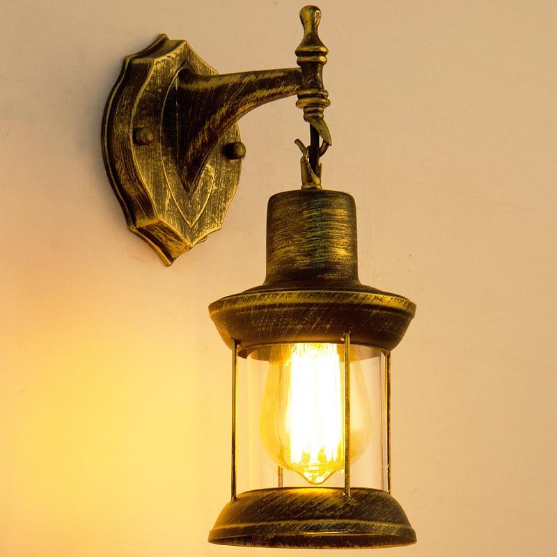 بار مقهى العتيقة فانوس متجر لبيع الملابس مطعم الممر مصباح الصناعية الصينية مصباح الرجعية ضوء خمري ضوء الجدار الزجاجي