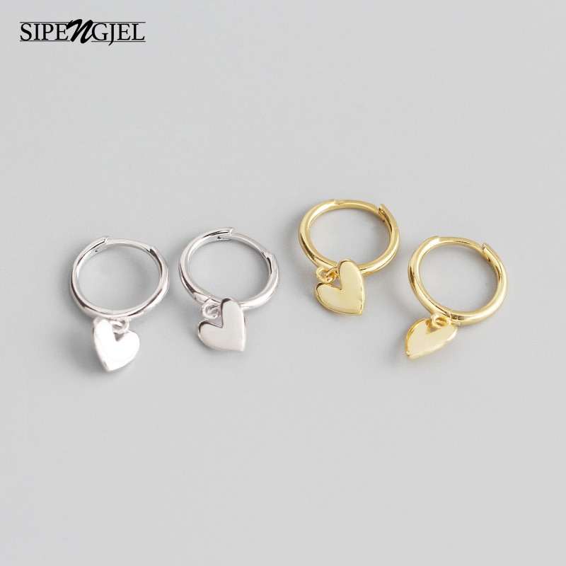 AliExpress - SIPENGJEL Minimalist Love Heart Tassel Earrings Hot Sell Cute Romantic Piercing Hoop Earrings For Women Party Jewelry Gift 2021