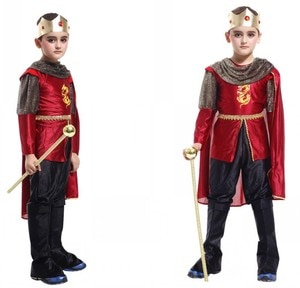 Boys King Prince Crown Outfit Kids Stage Performance Shirt Pants Cloak Halloween Cosplay Costumes Party Role Play Dress Up Suit