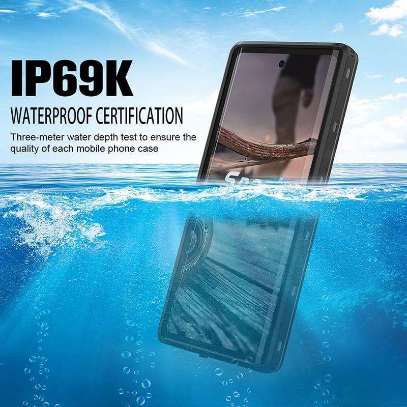 IP69K подводный водонепроницаемый чехол для телефона Samsung Note 10 Plus S10 S8 S9 Plus водонепроницаемый чехол-подставка для Galaxy Note 8 9