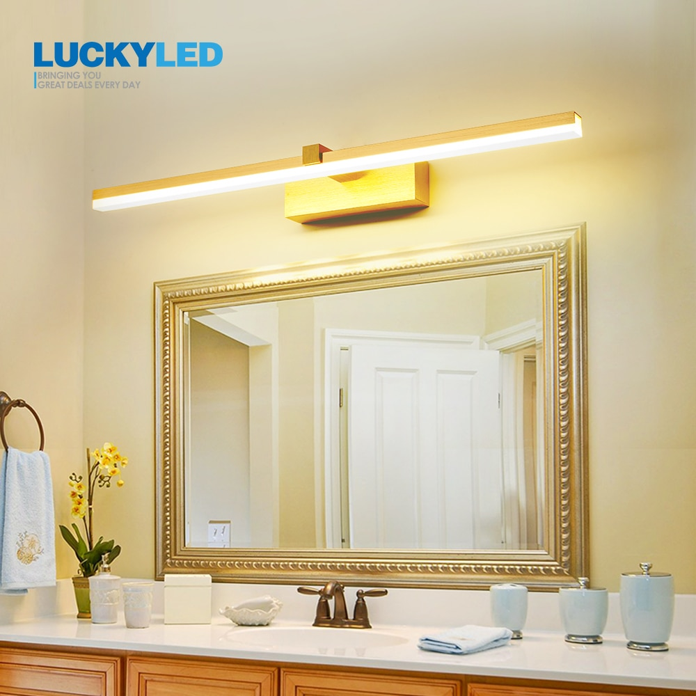 LUCKYLED Led Bathroom Light Waterproof Mirror Light 8w 12w AC85-265V Wall Light Fixture Modern Wall Lamp for Living Room Bedroom