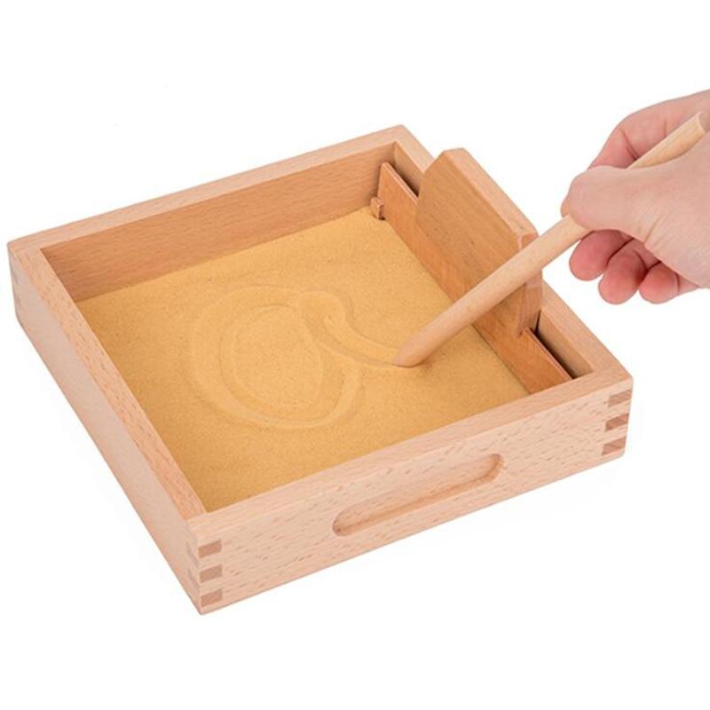 Детские игрушки Монтессори, искусственный песок, стол для обучения письма, Детские обучающие игрушки