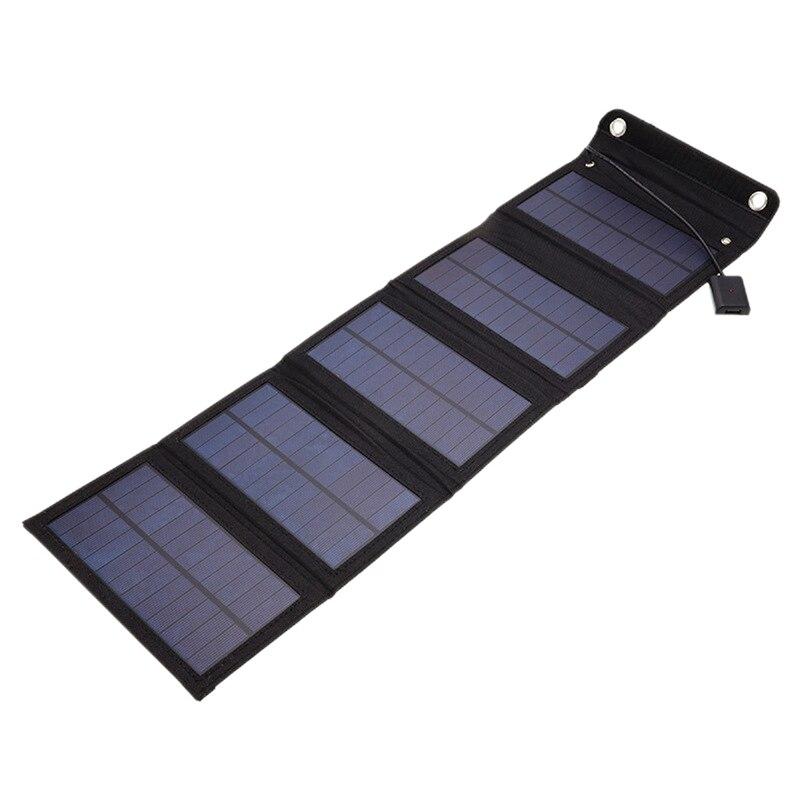 AFBC 15 واط 5 فولت لوحة طاقة شمسية قابلة للطي المحمولة مقاوم للماء الطاقة النسخ الاحتياطي USB واجهة للتخييم في الهواء الطلق السفر