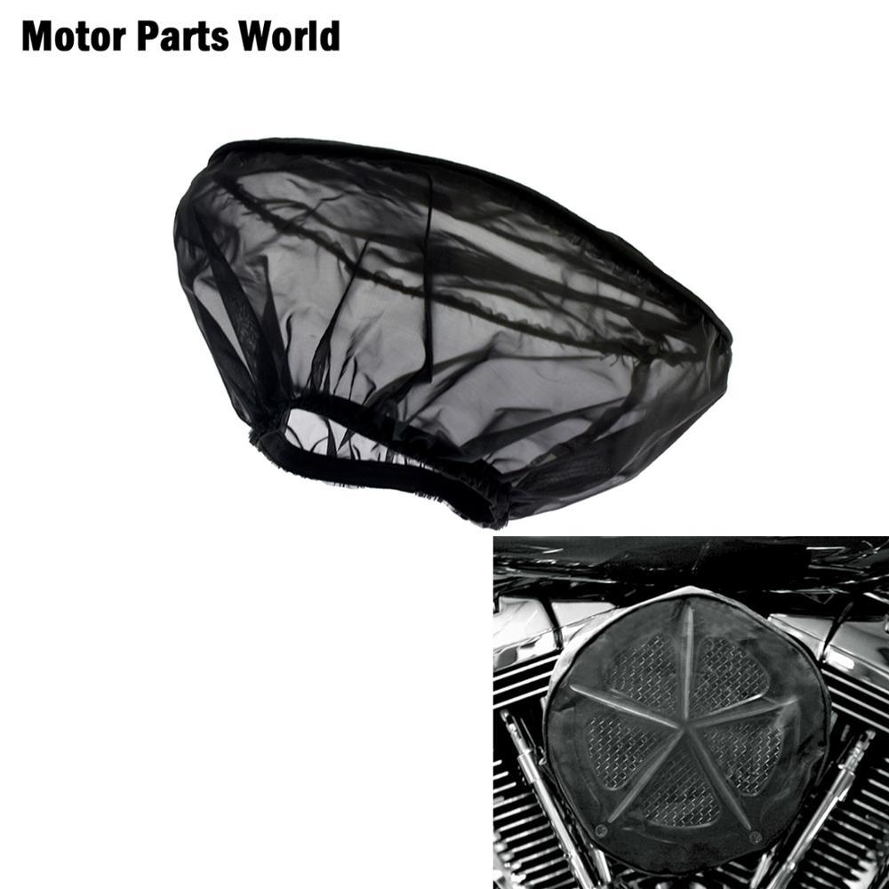Motocicleta preta à prova dwaterproof água chuva meia capa protetora para harley sportster xl touring road king flhx dyna fxdb softail fxstb