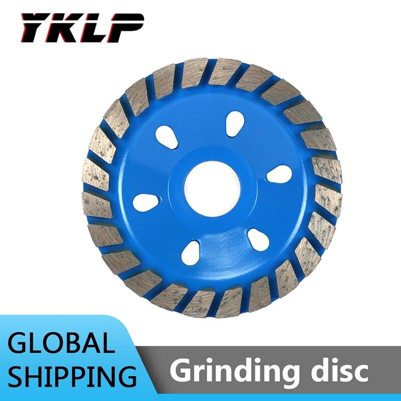 Disco de molienda de rueda de diamante de 4 pulgadas con forma de tazón taza de molienda azul herramienta de cerámica de mampostería de piedra de granito de hormigón 100mm