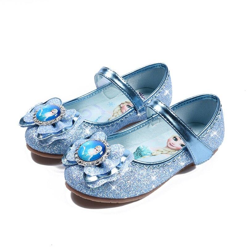 Venda quente crianças meninas vestido de casamento sapatos crianças princesa sapatos bowtie roxo sapatos de couro para meninas sapatos casuais plana
