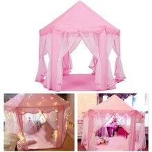 Tente Portable pour enfants filles château rose   Moustiquaire, pour maison de jeu, rideau détoile de jardin, pour enfants, intérieur et extérieur