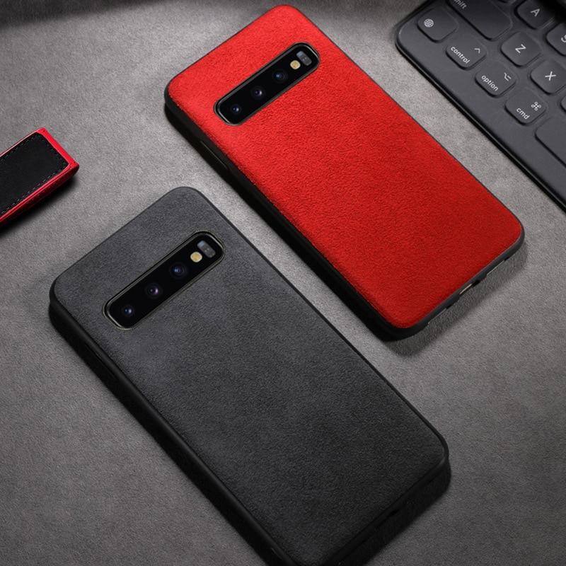 De caja de teléfono de cuero para Samsung Galaxy S20 Ultra S7 S8 S9 S10 S10e Nota 8 9 10 Plus A10 A20 A30 A50 A70 A7 J7 A8 J6 caso