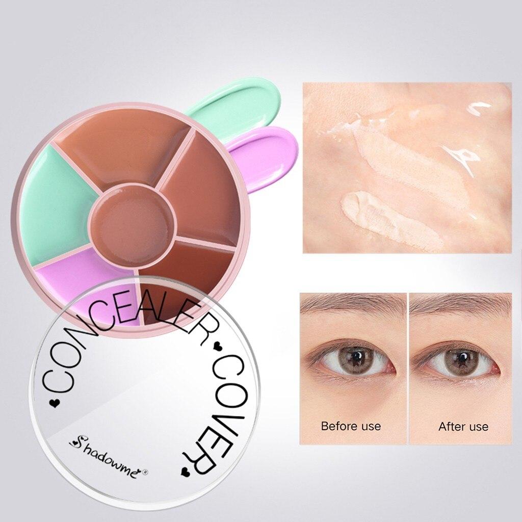 Maquillaje color 5 colores cara corrector de ojos camuflaje CREMA CONTORNO cubierta líquido corrector maquillaje belleza cosméticos paleta traje