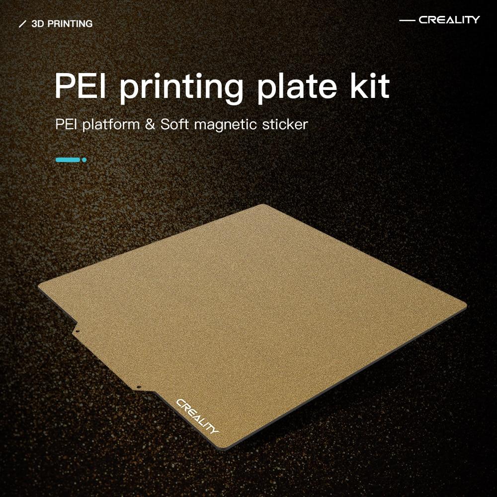 Creality ثلاثية الأبعاد 310*320 235X235 245X255 377X370MM PEI مجموعة لوحة الطباعة منصة المغناطيسي ملصقا ل Ender-3 Ender-5 زائد CR-10