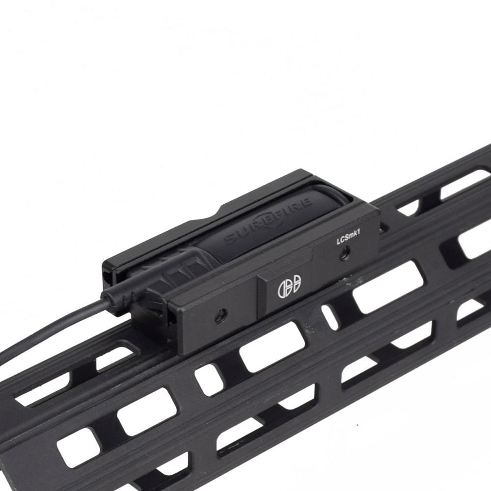 Flashlight rat tail holder metal flashlight laser rat tail slot switch guide handguard plug-in unive