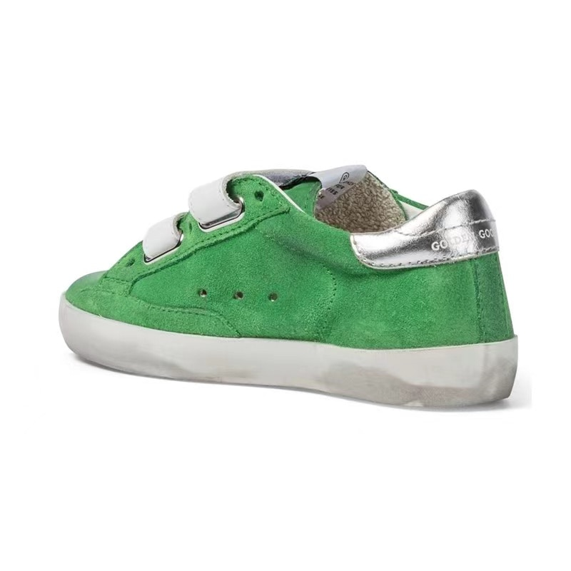 2021 Spring/summer Parent-child  New Product Cow Wool Children Retro Old Small Dirty Shoes Casual Velcro Green Sneakers CS219 enlarge