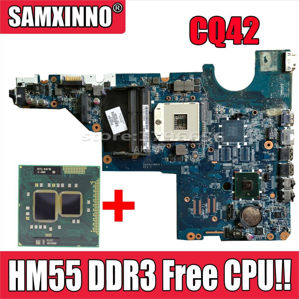 Akemy placa principal 595184-001 para hp cq42 cq62 g42 g62 computador portátil placa-mãe hm55 ddr3 livre cpu!!