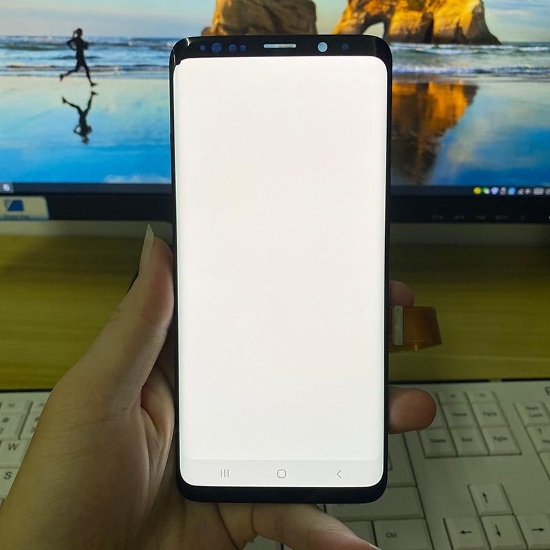 الأصلي G965F LCD لسامسونج غالاكسي S9 زائد شاشة LCD تعمل باللمس مع الإطار محول الأرقام ل S9 زائد G965 G965W G965U LCD