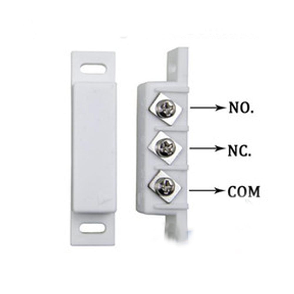 Магнитный герконовый зазор переключатель NC & NO комбинированный дверной/оконный контактный датчик для беспроводной системы охранной сигнализации