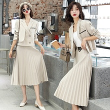 2021 Fashionable Simple Elegant Waist Slimming Casual Slim Fit All-Match Fashion Suit Pleated