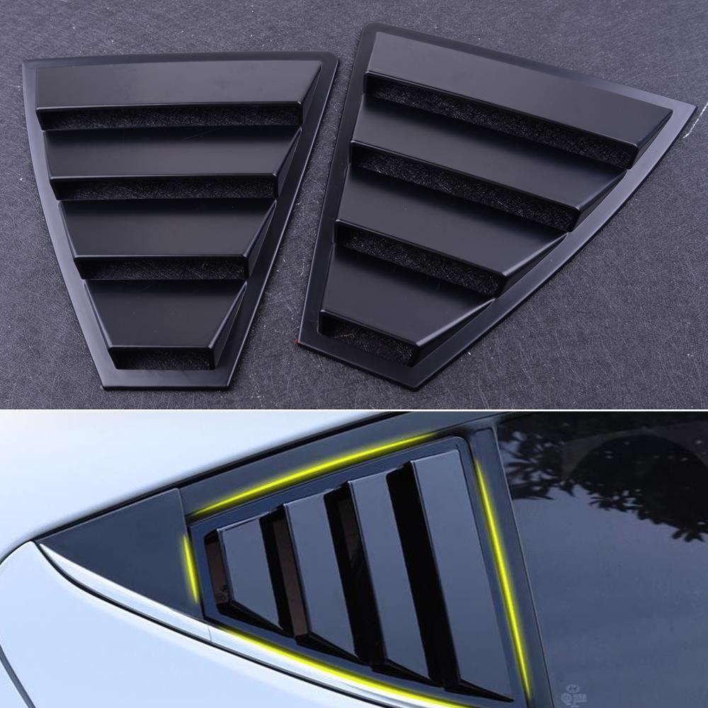 מכירה מושלמת התאמה שחור צד Vent אחורי חלון רבעון תריסים Fit עבור יונדאי Elantra 2017-2019 סיטונאי מהיר משלוח CSV