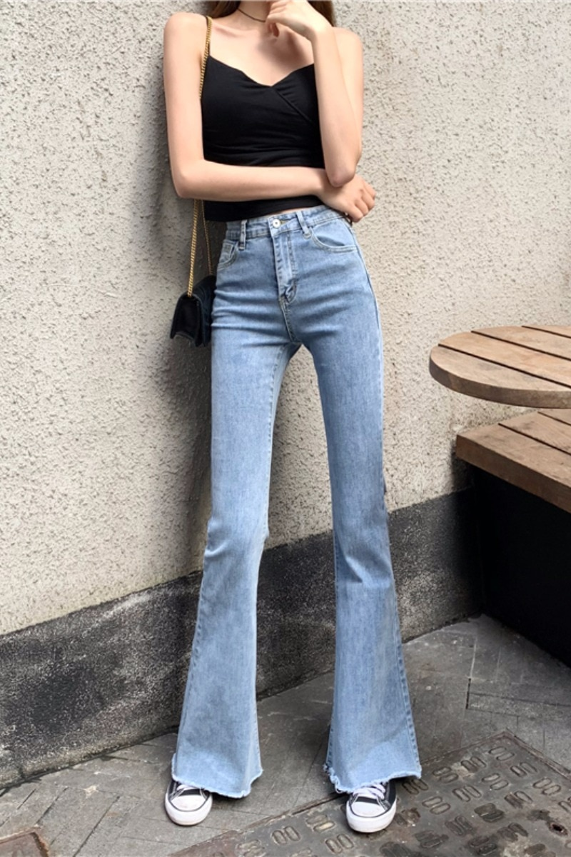 2020 spring summer autumn new women fashion casual Denim Pants woman female OL high waist jeans Vq116  - buy with discount