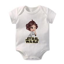 New Disney Star Wars Print Newborn Bodysuits O Neck Short Sleeve Toddler Jumpsuit Summer Harajuku Ba