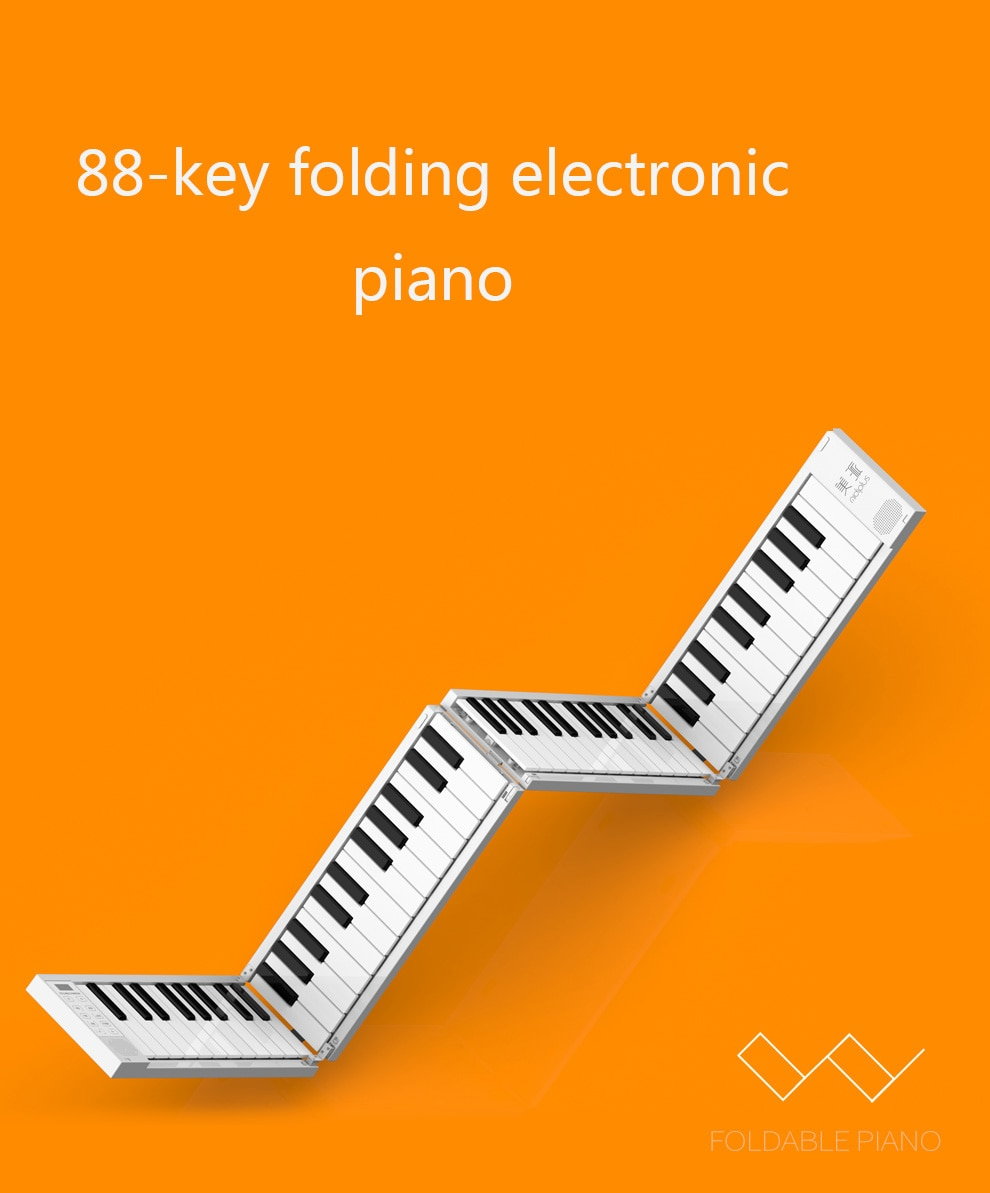 88Key Portable Piano Instrument Folding Keyboard Musical Instruments Professional Adult Practice Electronic Piano enlarge