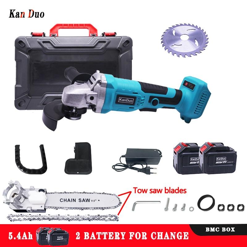 KANDUO M10 اللاسلكي زاوية فرش طاحونة 21 فولت بطارية ليثيوم أيون ماكينة الطحن قطع طاحونة بزاوية كهربائية طحن