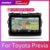 zaixi android 2 din car radio multimedia video player auto stereo gps map for toyota previa 2006 2012 media navi navigation