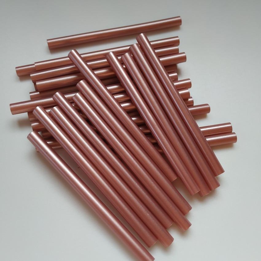 Hot Melt Glue Stick Retro Metallic Color Bronze Rose Gold Lacquer Wax Seal DIY Tools High Viscosity Adhesive 20PCS*7mm*100mm
