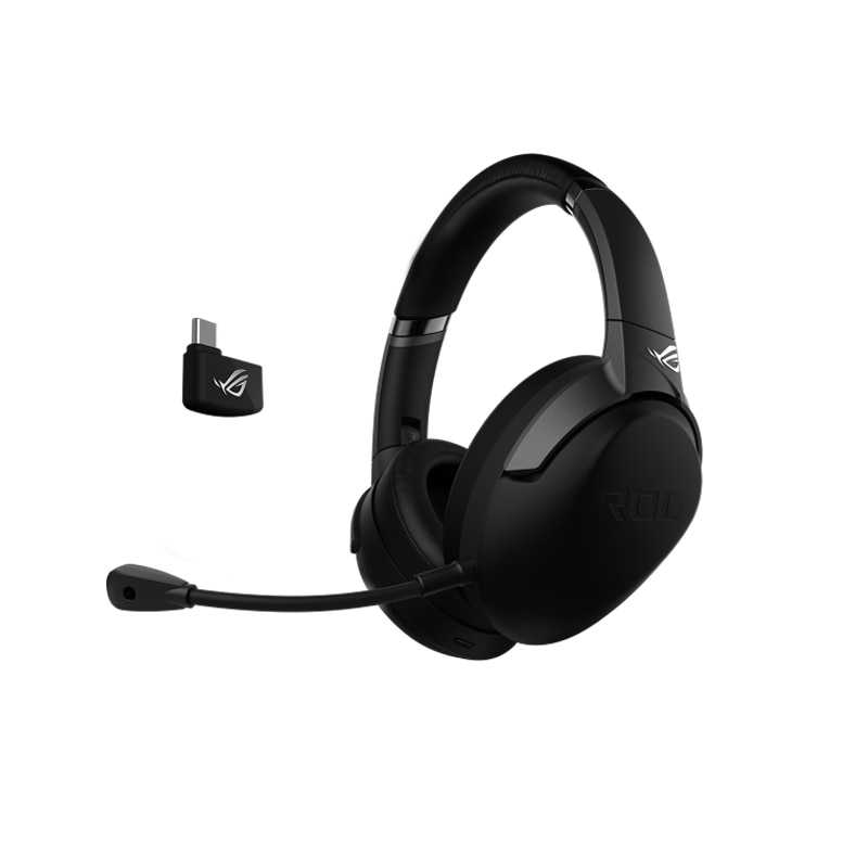 ASUS ROG STRIX الذهاب 2.4 USB-C 2.4 GHz اللاسلكية الألعاب سماعة مع بالنيابة الضوضاء الغاء الميكروفون و الأداء المنخفض الكمون