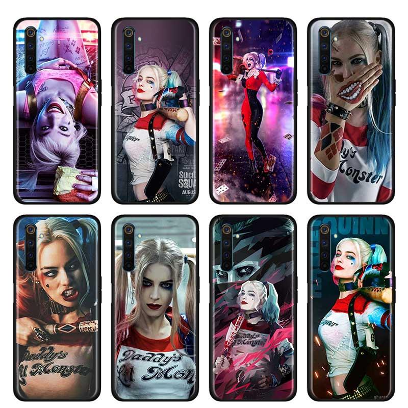 Funda fina para verdadero yo X50 Pro 5G X2 Pro XT C3 5i 5 Pro 6i 6 Pro Narzo 10 10A cubierta del teléfono Shell Harley Quinn suicidio escuadrón Joker