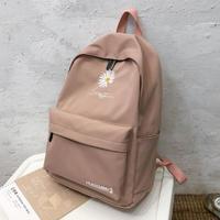 Школьный ранец для девочек-подростков, женский рюкзак с принтом, большие черные нейлоновые сумки с милыми цветами для учеников средних клас...