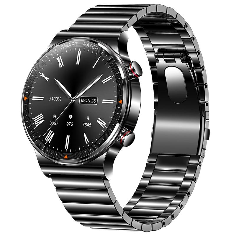 454*454 HD 1.39 بوصة عرض ساعة ذكية الرجال بلوتوث دعوة IP68 مقاوم للماء مشغل موسيقى رابط سماعة رأس بخاصية البلوتوث Smartwatch الرجال