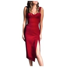 Sexy Slim Summer Dress Women Knee Length Sleeveless Velvet Casual Elegant Dress Tigth Party Night Female Dress Ropa Mujer L0325