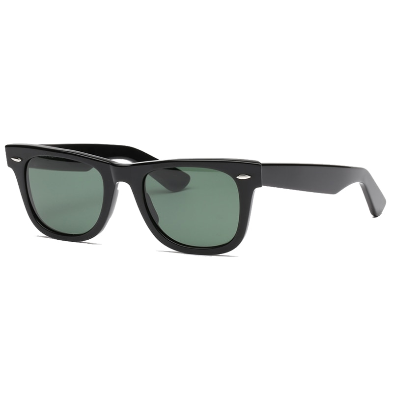 Glass lens classic sunglasses women men Acetate sun glasses Luxury Brand Rivet Design Goggles Elegant Female gafas de sol mujer