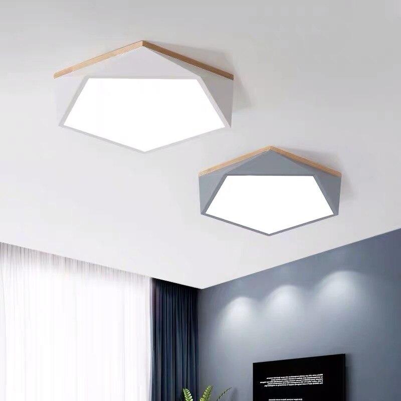 Nórdico Simple luces de techo moderna lámpara de techo dormitorio sala de iluminación Lixtures para habitación de niños cocina luminarias