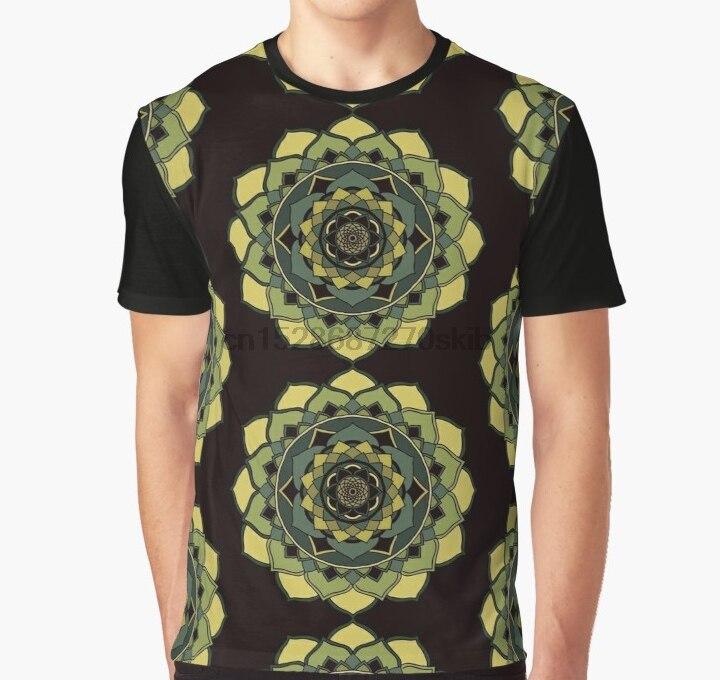 Todo impreso 3D camiseta Corazón Verde chackra curacion mandala Full Print Big Print gráfico camiseta