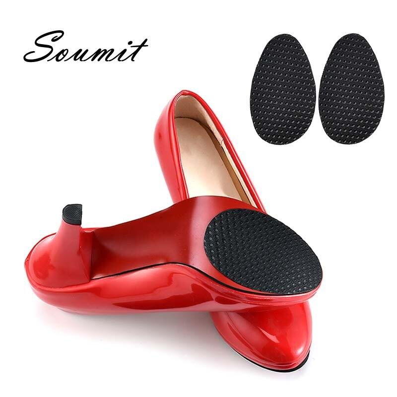Soumit anti-deslizamento sola sapatos protetor almofadas borracha auto-adesivo aderência adesivos para fora-solas para sapato de salto alto reparação solas