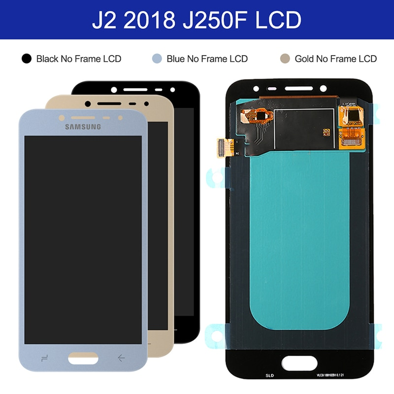 For Samsung Galaxy J2 Pro 2018 OLED LCD Display Touch Screen Digitizer Assembly On SM J250F J 2 2018 250F Sm-J250F 100% Test enlarge