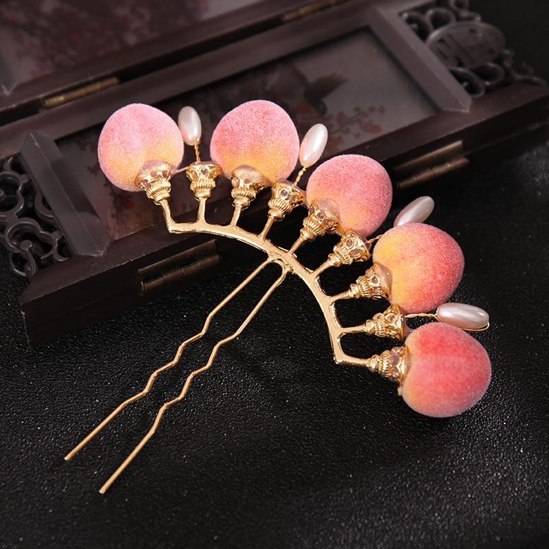 Horquilla de flores de estilo chino para mujer, tocado Vintage, accesorios para...